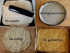 4 masas de pizza casera, saludables y 3 sin gluten Spelled, chickpeas, buckwheat and cauliflower. 4 homemade and healthy pizza … Pizza Recipes, Real Food Recipes, Yummy Food, Healthy Recipes, Pizza Hut, Pepperoni Pizza Casserole Recipe, Pizza Sin Gluten, Bubble Pizza, Tapas