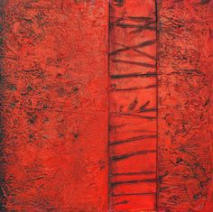 RED Abstract painting abstract Acrylic by avaavadonstudio on Etsy