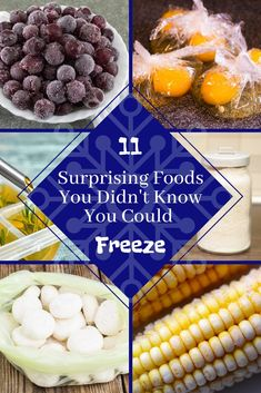 Freezing foods are a great way to prolong the life and freshness of certain foods. Here are 11 surprising things that are worth putting in your freezer. Baking Science, Food Science, Freezer Friendly Meals, Canned Food Storage, Good Food, Yummy Food, Yummy Recipes, Frozen Meals, Food Facts