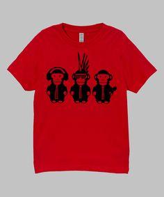 Micro Me Red Monkeys Tee - Infant, Toddler & Boys | zulily #streetstyle #monkey