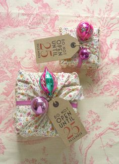 Reusable cloth gift wrap!