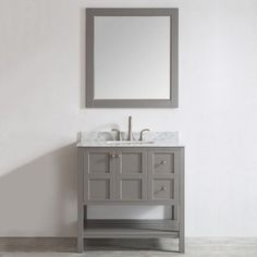 "Found it at Wayfair - Florence 36"" Single Vanity Set with Mirror"