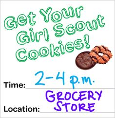 Free Printable Girl Scout Cookie Booth Promo Flier