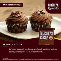 ¡Disfruta de Cocoa Hershey's®! #Chocolate #Cocoa #Hershey #Postre #Cupcake