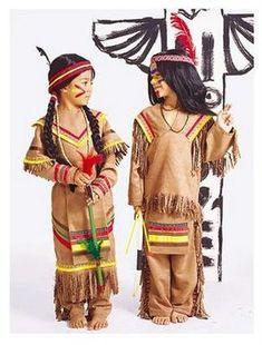 Disfraz de indio con patrones   Todo Halloween
