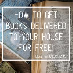 How to get books delivered to your house for free Got Books, Books To Read, Where To Buy Books, Buying Books Online, Any Book, Free Reading, Free Books, Free Delivery, Online Shopping