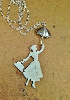 Mary Poppins Silver Pendant by SezenTJewellery on Etsy, $70.00
