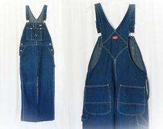 Vintage Men's Denim Bib Overalls Jeans 38 x 32 at PopFizzVintage, $44.00