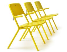 Powder coated steel outdoor chair SHARE by Nola Industrier design Thomas Bernstrand