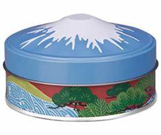 パノラマ缶富士山 お茶缶、茶筒、新茶、煎茶、紅茶、中国茶、キャンディー入れに 静岡土産、海外へのお土産に 小物入れ、茶缶。パノラマ缶富士山