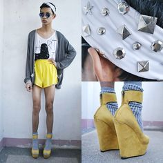 Cheerful Yellow (by Jeroy Balmores) http://lookbook.nu/look/4537081-Cheerful-Yellow