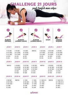 Challenge ventre plat : programme minceur 3 semaines - Fitness Advice, Workout Tips, and Flat Stomach Challenge, Body Challenge, Workout Challenge, Workout Tips, Yoga Fitness, Fitness Tips, Health Fitness, Physical Fitness, Fitness Exercises