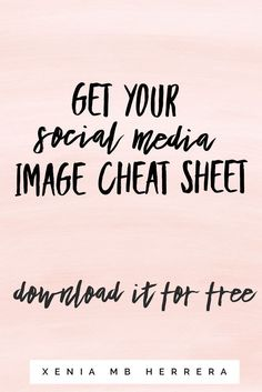 The Social Media Image Cheat Sheet gives you the social media image guidelines and sizes you to take control of your social media efforts and track your hard work and content creation. Stop The Overwhelm! . . .Small business ideas   Small business quotes   small business organization   Small business ideas for women   Small business tools   business tools free worksheets   business toolkit  