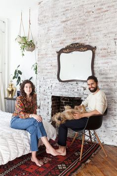 Name: Adam and Rachel Jones and their dog, Fraiser Location: Clinton Hill — Brooklyn, NYC Size: 650 square feet Years lived in: 3 years; Rented Rachel is a designer and Adam specializes in photography and video production, and new inspirations and ideas are always emerging in both their work and home life. Since they moved into this space a few years ago, the process of settling in has been one of constant evolution and change. They've pared down unnecessary items that they carried with…