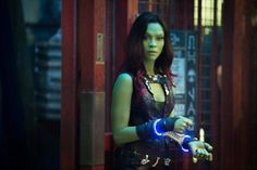 Inside The Green Scene with Gamora | Zoe Saldana Interview #GuardiansoftheGalaxyEvent