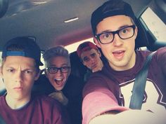 From left to right. Caspar Lee, Tyler Oakley, Joe Sugg, and Marcus Butler!