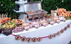caramel apple bar party | one of the best dessert bar ideas a caramel apple bar fall is coming ...