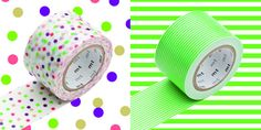 MT Japanese WIDE Washi Tape Drop Green & Border Green by OHMYBUY