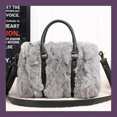 f50296602b4 Winter Luxury Messenger Bag Genuine Leather Handbags Fashion Woman Real Fur  Bags For Ladies Women Tote Bag