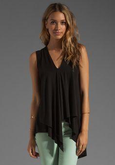 BCBGMAXAZRIA Asymmetrical Hem Top in Black at Revolve Clothing - Free Shipping!