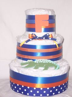 Gator diaper cake