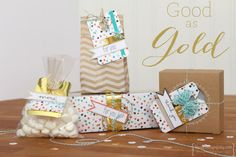The Good as Gold Kit beautifully re-purposed into gift packaging.