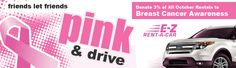 Donate to Susan G Komen through E-Z Rent-A-Car