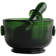Mid Century Hand Blown Glass Mortar & Pestle | From a unique collection of antique and modern glass at http://www.1stdibs.com/furniture/dining-entertaining/glass/