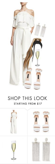 """""""Dinner with my friends"""" by pocaondasx ❤ liked on Polyvore featuring Josie Natori, Forever New and Oscar de la Renta"""