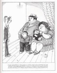 Quino homenajea a Botero... ¡¡con humor!!