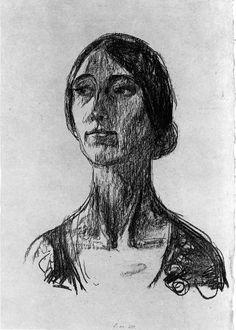 Edvard Munch - Birgit Prestøe, 1930, Lithograph, Lithographic crayon on paper