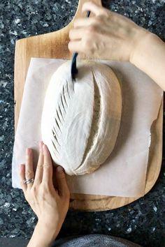 Helpful scoring tips. Sourdough Bread Starter, Sourdough Recipes, Artisan Bread Recipes, Bread Shaping, Bread Art, Rustic Bread, Bread And Pastries, Bread Rolls, How To Make Bread