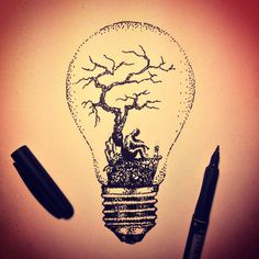 #dotwork #lightbulb