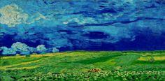 AUVERS-SUR-OISE  juli 1890 Vincent Van Gogh, / Korenveld onder wolkenluchten / Van Gogh Museum, Amsterdam.
