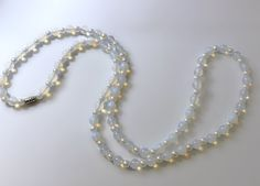 Friends, a shiny item is here ✨ Opalescent Glass Bead and Faux Pearl Necklace - Moonstone Glass Necklace https://www.etsy.com/listing/486474256/opalescent-glass-bead-and-faux-pearl?utm_campaign=crowdfire&utm_content=crowdfire&utm_medium=social&utm_source=pinterest