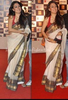 simple off white cotton saree #indian #fashion