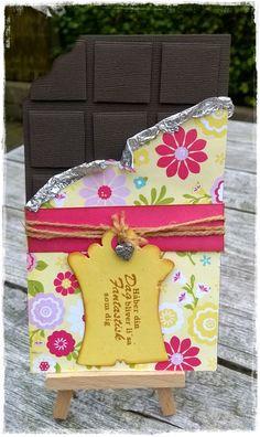 Chanettes kreative blog: Chokolade kort