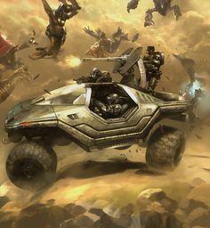 Concept Art: Halo 3: ODST Lost Platoon - 2D Digital, Concept art, Videogames