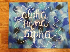 Alpha sigma alpha sorority canvas