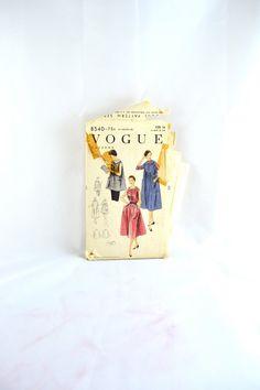 1950s Vintage Vogue Pattern 8540 Misses by TabbysVintageShop, $12.00