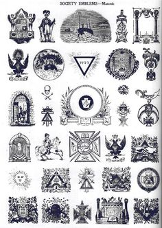 Masonic Society Emblems, Freemasonry & Esoterica