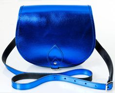 MY FAV CHOICE Zatchels Cobalt Metallic Saddle Bag
