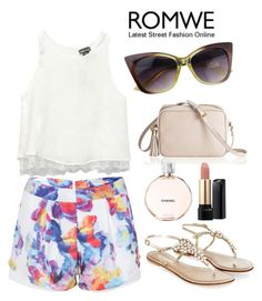"""Romwe 6/I"" by queenlateen ❤ liked on Polyvore featuring Wet Seal, Monsoon, GiGi New York, Chanel and Lancôme"