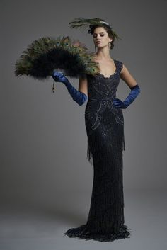 The Fitzrovia Collection - Mother of the bride occasionwear - Gill Harvey Royal Dresses, Gala Dresses, Flapper Dresses, Vintage Outfits, Vintage Fashion, 1930s Fashion, Edwardian Fashion, Women's Fashion, Peacock Dress