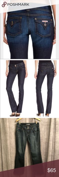 """Hudson Signature Bootcut Jeans Like New Size 28, style number W170DHA dark wash Bootcut Jeans. Inseam is 30-1/2"""". Like new condition.   Happy to bundle, I will promptly answer any questions :) Follow me to see new items.   Clean, non smoking home. Hudson Jeans Jeans Boot Cut"""