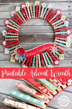 A Printable Advent Wreath to make for your family.