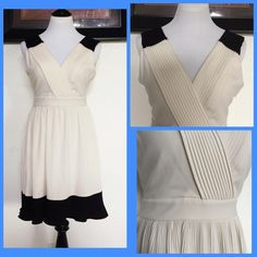 F21 dress Pleated dress..color is cream..like new.. Forever 21 Dresses