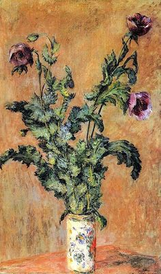 Claude Monet - 1883, Vase of Poppies