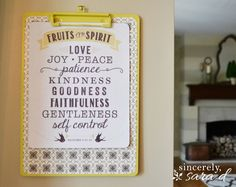 Fruit of the Spirit Printable - sincerely, sara d.sincerely, sara d.