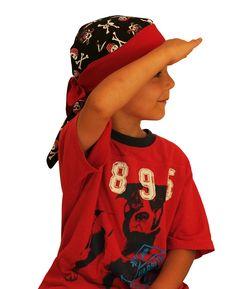 Jon's Children's Doo Rag - Pirates - A Reversible Bandana, Cancer Hat, Chemo Headwear, Alopecia Scarf, Head Cover, Hair Loss, Cancer Gift